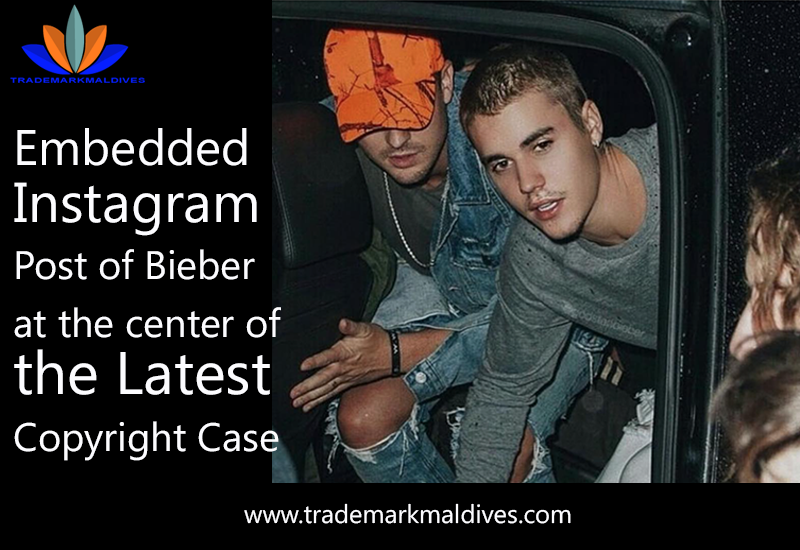Embedded Instagram Post of Bieber at the center of the Latest Copyright Case